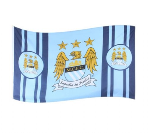 MAN CITY FOOTBALL CLUB FLAG LARGE SIZE OFFICIAL 5' X 3'